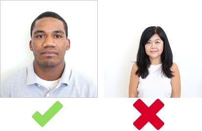head position for a us visa photo