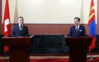 Tsogtbaatar Cassis sign visa free agreement