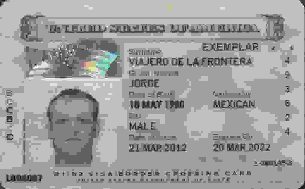 border crossing card bcc  information and requirements