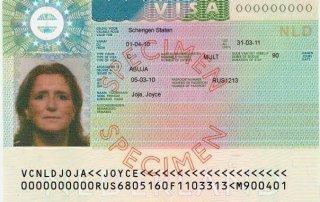 what does a schengen visa look like
