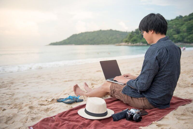 digital nomad travelling