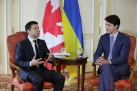 trudeau zelensky talk about youth exchange scheme