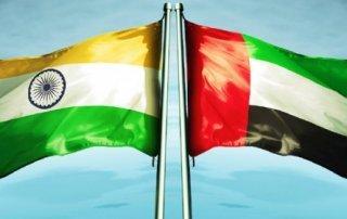 uae india flags