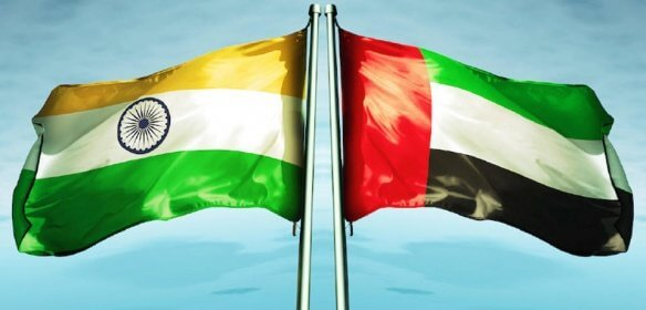 uae india flags