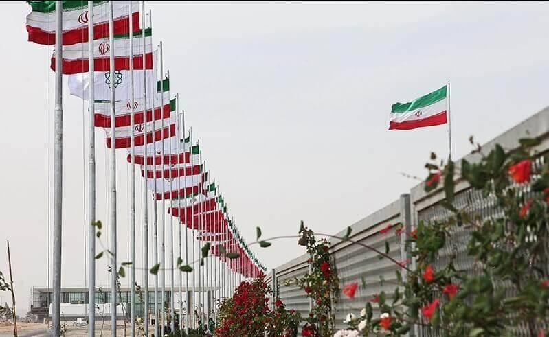 iran flags in tegran