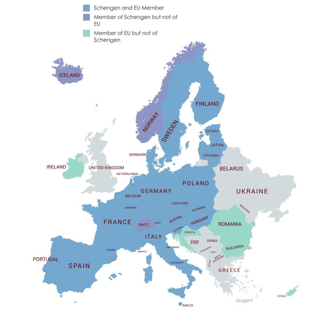 schengen countries 2020