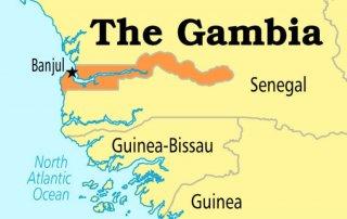 Gambia Senegal Map