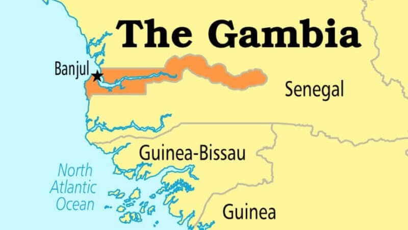 Gambia Senegal Map