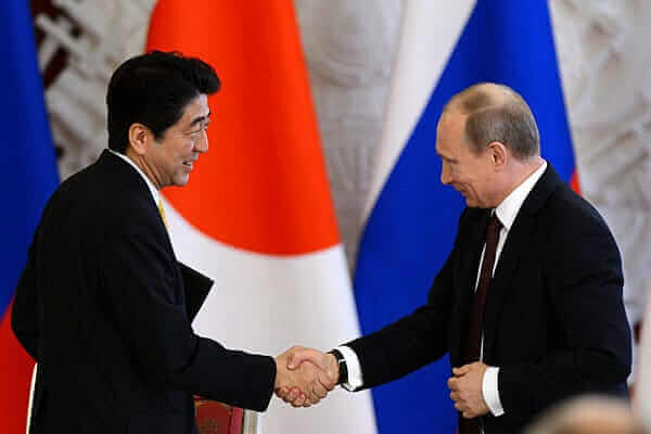 japan's shinzo abe and russia's vladimir putin
