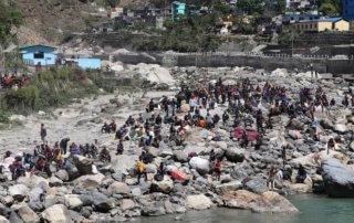 Nepalese stranded in India