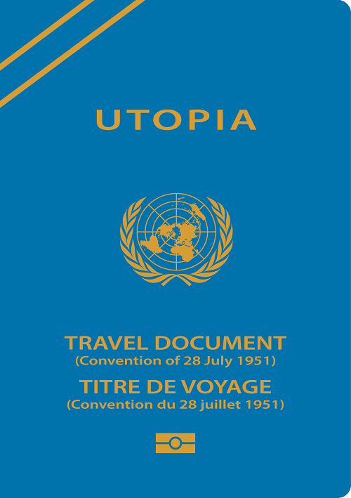 a sample travel document for refugees
