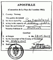 example of an apostille according to the hague convention